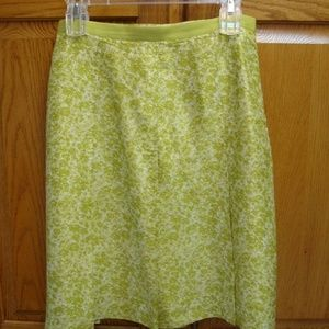 JRS/WMNS BANANA REPUBLIC SKIRT-SIZE 0-GOLD/GREEN